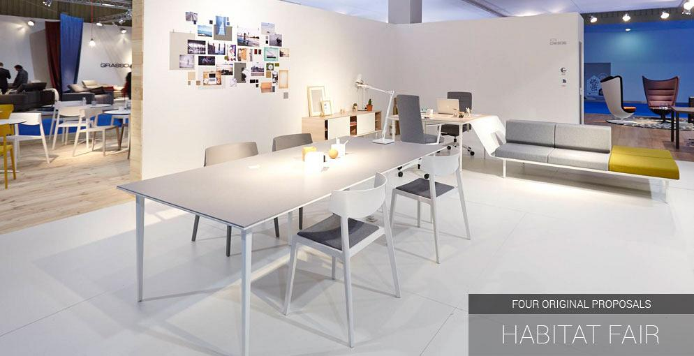 Actiu activates inspiration at the Habitat Fair with four original proposals