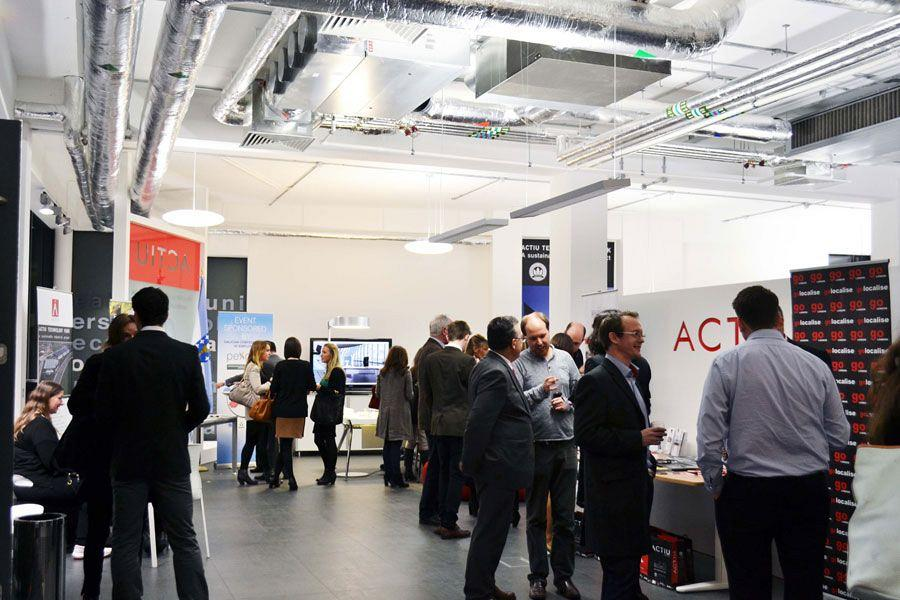 Actiu London Showroom, networking stage of Spanish culture and cuisine 1