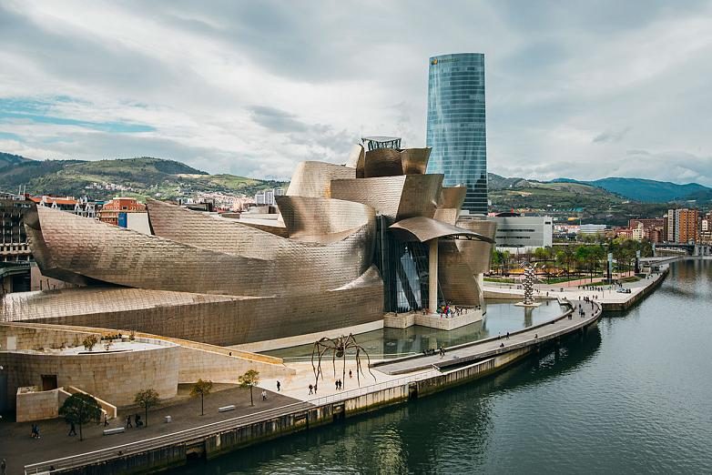 The Guggenheim museum building in Bilbao