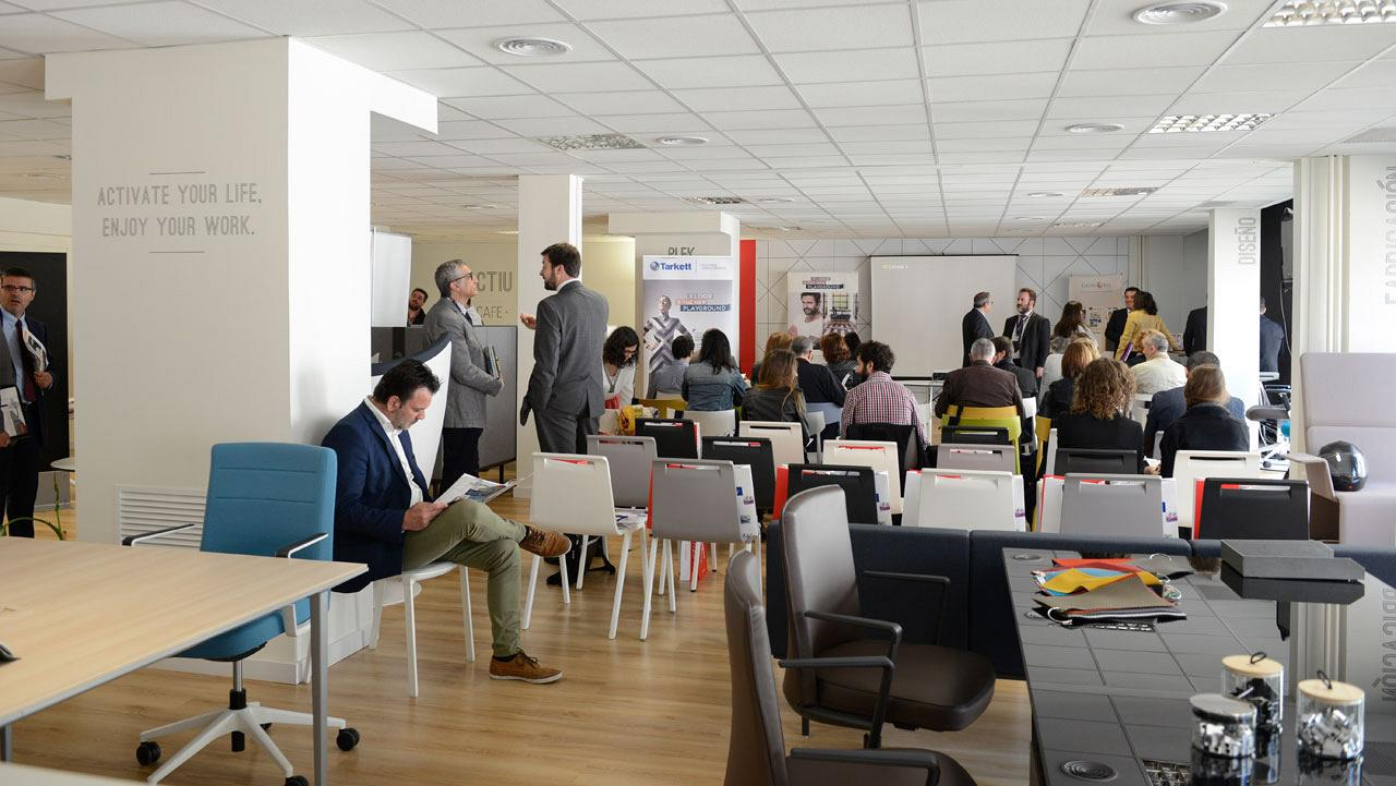 Le showroom d'Actiu de Barcelone a accueilli le 1er forum sur le Workplace Strategy : Facility Management 3
