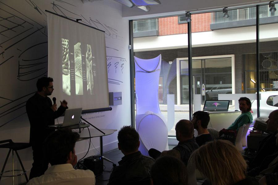 Organic architecture, features in the Actiu showroom during the Clerkenwell design week 3