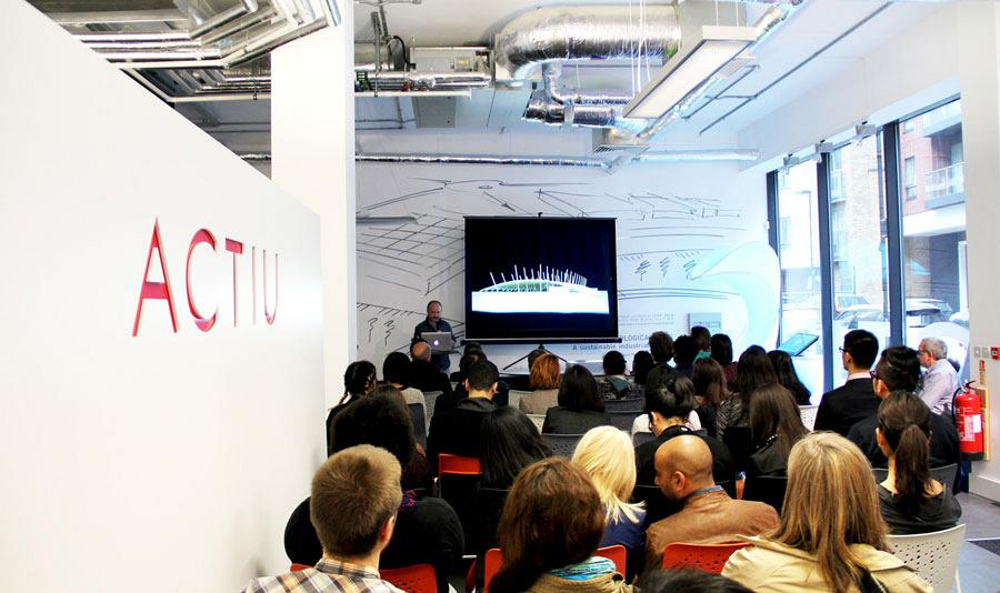 Organic architecture, features in the Actiu showroom during the Clerkenwell design week 4