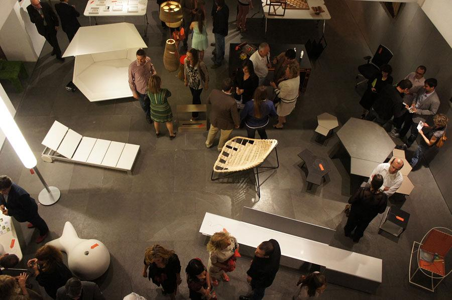 Actiu's Red Dot chairs at the night of Architecture, Design and Solidarity 7