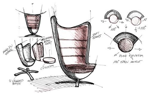 Badminton, el sillón fonoabsorbente que activa tu creatividad 1