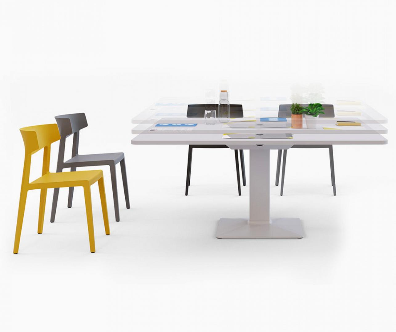 MEETING TABLES, height-adjustable tables