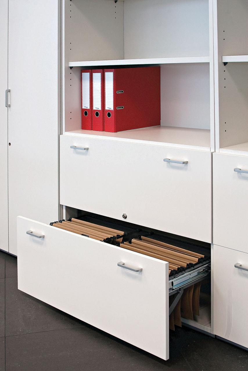 Modular storage, operative office filing program with ...
