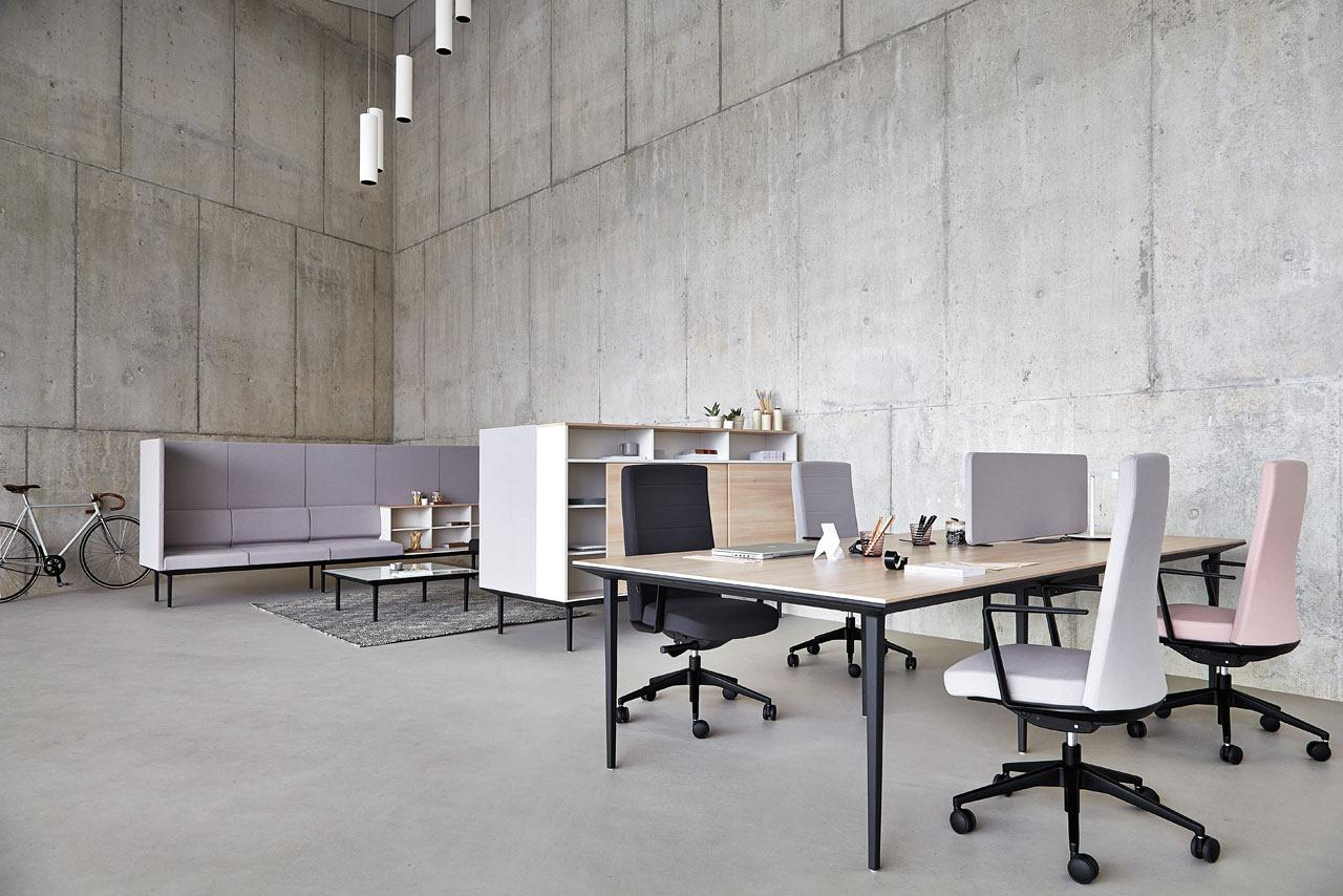 Longo desks available for both open plan offices as well as