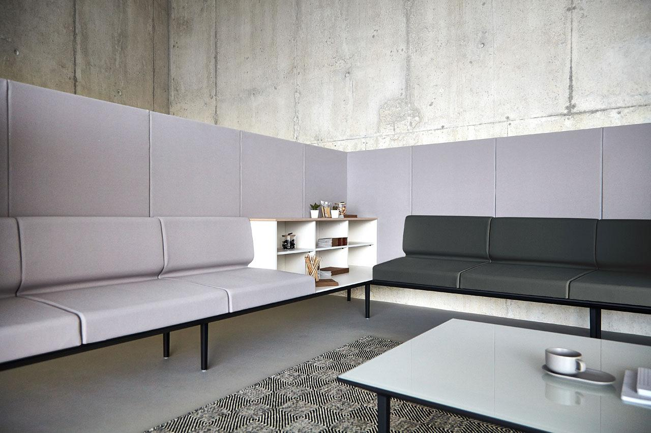 Longo fuses soft seating with the office using a platform - Muebles para clinicas dentales ...