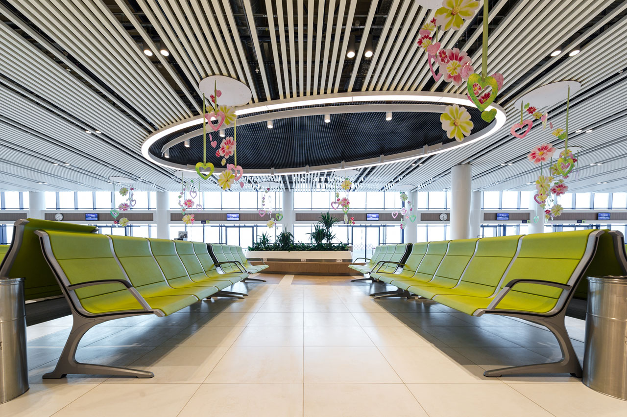 Passport Benches By Actiu In Chisinau Airport In Moldova