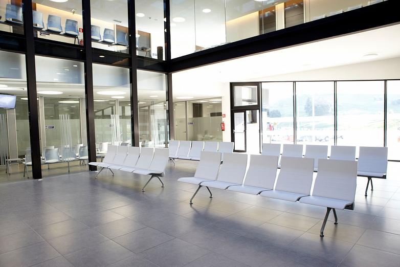 the interior of the building has been equipped with actiu furniture a company certified as leed gold for its construction and sustainable production avant actiu furniture bench
